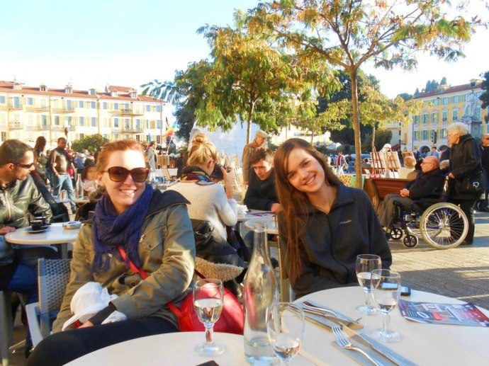 The next day, we walked around Nice, checked out the newly-open Christmas markets, and enjoyed a snack at a cafe!