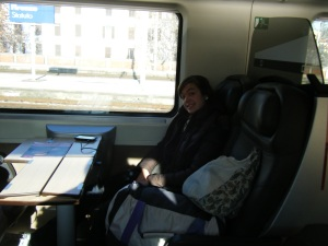 My favorite transportation the whole trip.  This train from Rome to Florence was AMAZING- nice seats, nearly empty car, outlets and free WiFi ON THE TRAIN, and free snacks!
