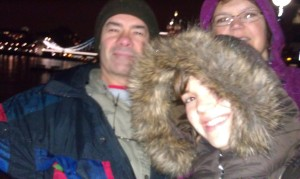 Failed attempt at a family pic in front of the Tower Bridge in London.  This was the best one, if that tells you anything!