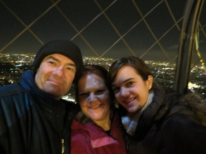The McGreer family (minus a few members) at the top of the Eiffel Tower together!!