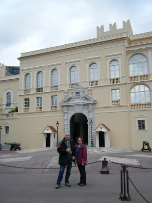 Mom and Dad in front of the palace!