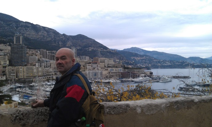 Dad checking out the view over Monaco.
