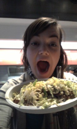 Steak burrito bowl.  Mmm.
