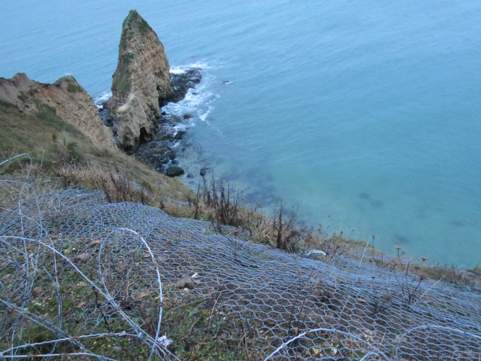 They try to leave it untouched, but decided some wire was okay to keep the cliff from eroding.