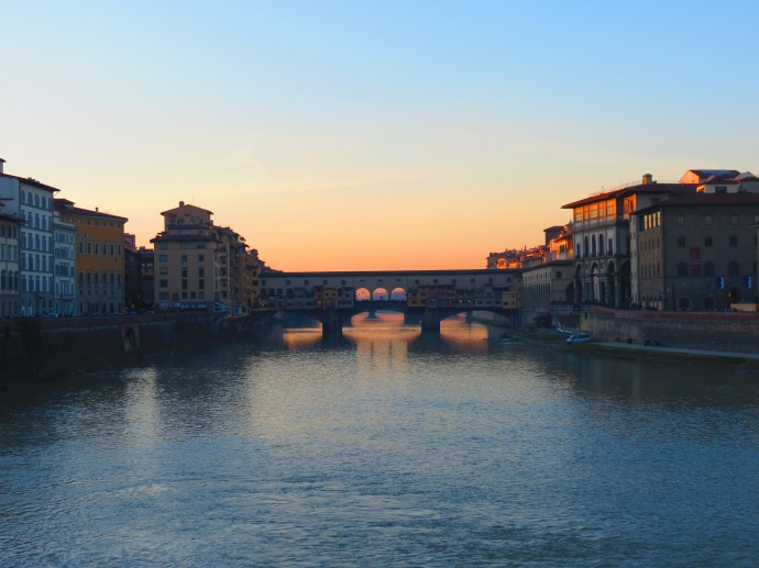 This is the Ponte Vecchio.  We were on some other bridge crossing the river.