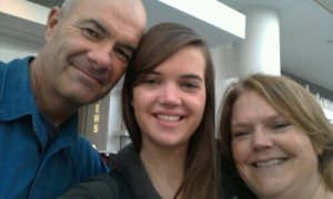 The last time I saw my parents, three months ago.